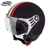 Vinz Rollerhelm Jethelm Fashionhelm   Roller Jet Helm mit Streifen   in Gr. XS-XL   Motorradhelm mit...