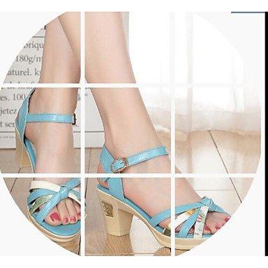 LvYuan Da donna Sandali Comoda Pelle Estate Casual Comoda Beige Blu 2,5 - 4,5 cm Blue