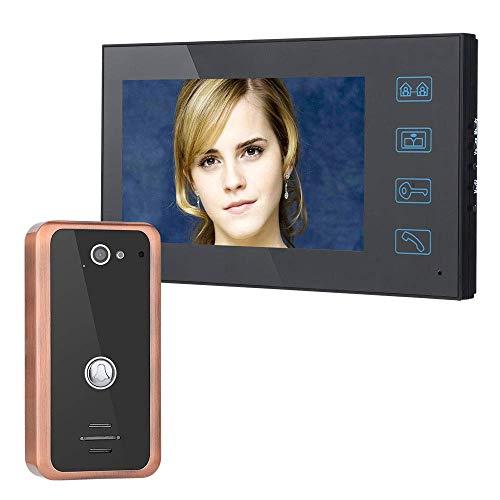 Aluminium-intercom (GJR-MENGLING 7 Zoll intelligente Video-Türe Videotür Telefon intercom Tür Aluminium-Legierung Nachtsicht Sicherheit CCTV Kamera HD 1000TVL)