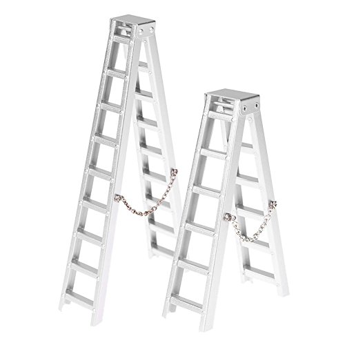 Zibuyu 2Pcs Mini Simulation Ladder Stepladder For Rc Rock Crawler Car Traxxas Hsp