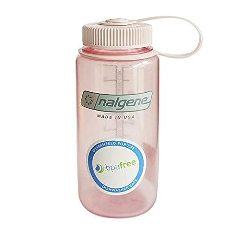 Nalgene Wide Mouth Water Bottle, 1-Pint, Fire