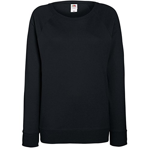 Fruit of the Loom Damen Sweatshirt Lightweight Raglan Sweat Lady-Fit 62-146-0 Black L