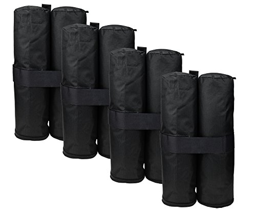 HOGAR AMO 4er Sandtasche 600D Oxford Pavillon Standfuß Gewichte Standsicherung für Gartenpavillon, Bierzelt, Partyzel, Festzelt, Outdoor Camping (Max 18KG /Tasche)
