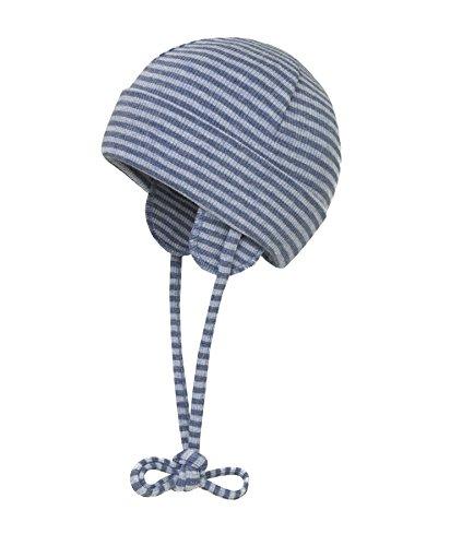 Döll Döll Unisex Baby Mütze Bindemütze Jersey 9981176995 Blau (Blue Indigo 3550) 35