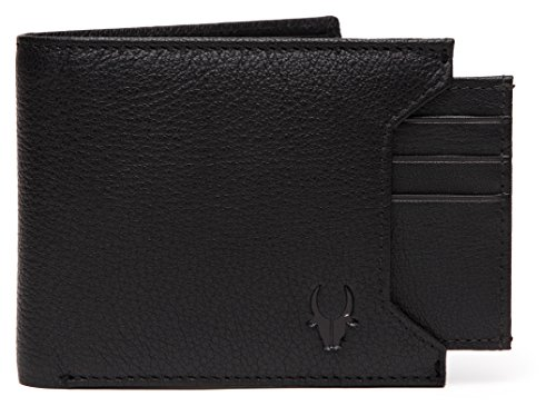 WildHorn® Old River Black Leather Men's Wallet