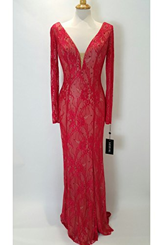 sherri-hill-50019-red-nude-lace-overlay-long-sleeve-dress-uk-12-us-8