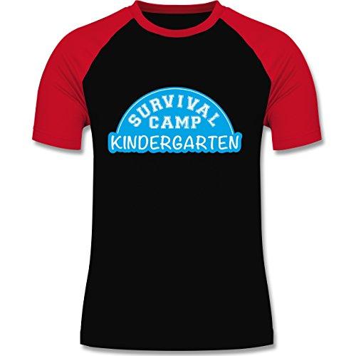 Shirtracer Sonstige Berufe - Survival Camp Kindergarten - Herren Baseball Shirt Schwarz/Rot