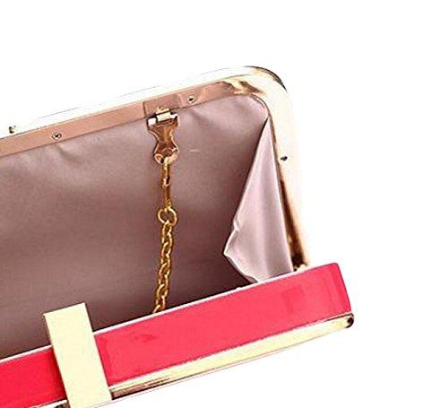 Messenger Bag Umhängetasche Kette Tasche Minihandtasche Art Und Weise Wilde PU Clutch Yellow