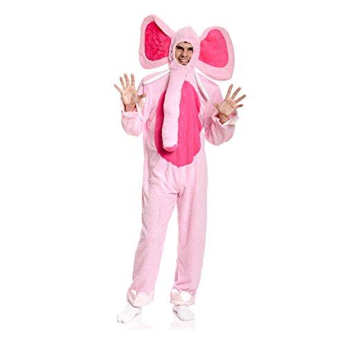 Kostümplanet® Elefanten-Kostüm Herren Elefant rosa Spaß Karnevals-Kostüm Verkleidung Junggesellen-Abschied Größe 52/54