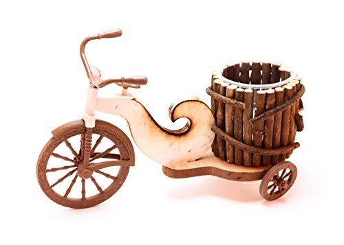 Pots vélo à Fleurs,Pot de Fleurs « Vélo »,Vélo de Pot de Fleur,Velo DECORATIF en Bois Porte Plante DE Decoration Florale pour Jardin OU TERRASSE