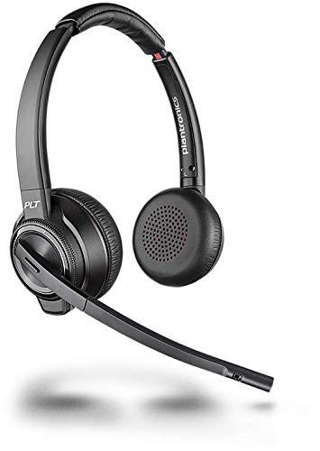 h DECT Headset Savi W8220-M Binaurale Tragevariante (mit USB); Microsoft Skype for Business zertifiziert in Schwarz ()