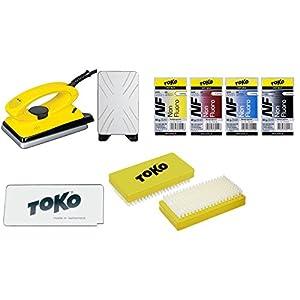 Toko Skiwachs-Set 7-teilig mit Wachsbügeleisen – für Alpin + Nordic + Board – Skiwax