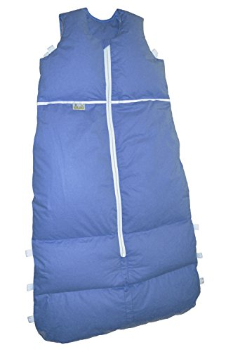 Premium Daunenschlafsack, längenverstellbar, Alterskl. älter 24 Monate, azur, 130 cm