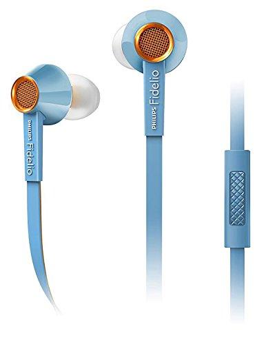 Philips Fidelio S2LB Premium In-Ear Kopfhörer mit Mikrofon (Hi-Res Audio, Kupferlegierung, robustes Flachbandkabel) hellblau