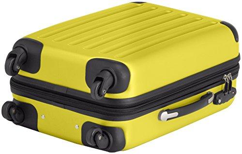 HAUPTSTADTKOFFER - Spree - 2er Koffer-Set Handgepäck Hartschale matt, TSA, 55 cm, 49 Liter, Gelb-Schwarz Gelb/Gelb