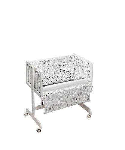 Funny Baby 629700 My Hero Codream - Minicuna colecho con vestidura y colchón, 120 x 60 x 95 cm