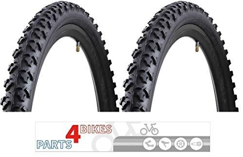 P4B | 2X 26-Zoll MTB-/ATB-Reifen | 26 x 2.10 | 54-559 | Für Gelände und Straße | Fahrrad-Reifen | Mountain-Bike-Reifen | All-Terrain-Bike-Reifen | in Schwarz