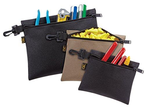 3Pk ClipOn Zippered Poly Bags