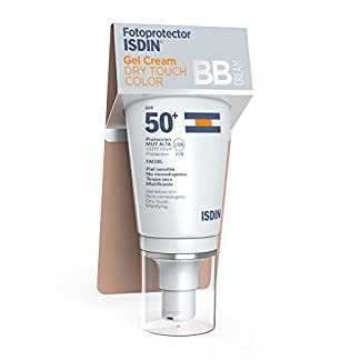Fotoprotector ISDIN Gel Cream Dry Touch Color SPF 50+ | BB cream | Hidratante y de toque seco | 50ml