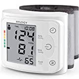 Wrist Blood Pressure Monitor, HYLOGY Digital Automatic Measure Blood Pressure with Heart Rate Pulse Detection, Large LCD Display 2 User Mode with 120 Memory Capacity