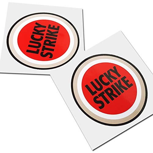 Preisvergleich Produktbild Twisted Melon Lucky Strike Motorrad Sponsor Grafik-Aufkleber,  klein,  2 Stück