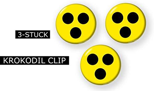 Clip Blind (3-STUCK Blindenzeichen Punkte Blind Hilfe Zeichen -Blindenplakette 25-59 mm mit KROKODIL CLIP (59mm))