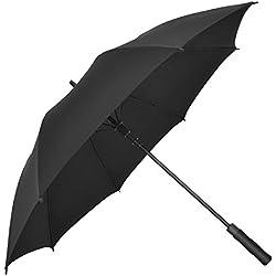 SSJDCF Parasol Haut de Gamme Hommes Grandes Entreprises Parapluie Automatique Long Manche Parapluie Vent Super Parasol,A,110cm