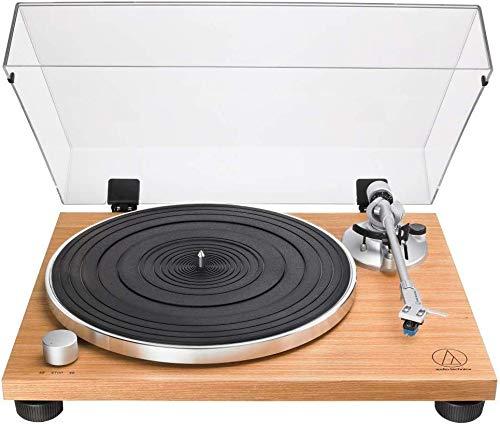 Audio-Technica AT-LPW30TK Tourne-Disque entraîné par Courroie Bois - Platines (Tourne-Disque entraîné par Courroie, Manuel, Bois, Aluminium, 33 1/3,45 TR/Min, 115/230V AC, 60/50 Hz)
