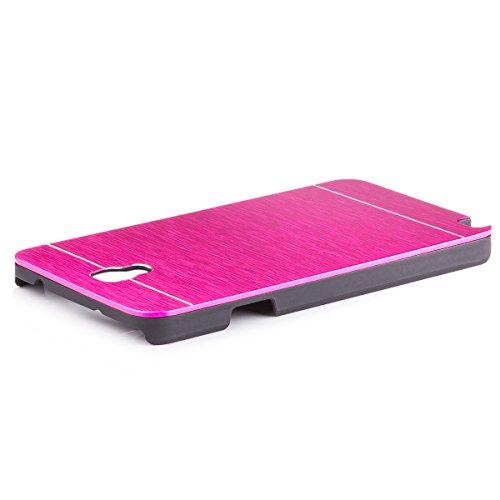 iCues Schutzhülle für Samsung Galaxy Note 3 NEO | Alu Case Gebürstet Pink | [Display Schutzfolie Inklusive] CNC Aluminium Metall Metallic Hülle Cover Schutz -