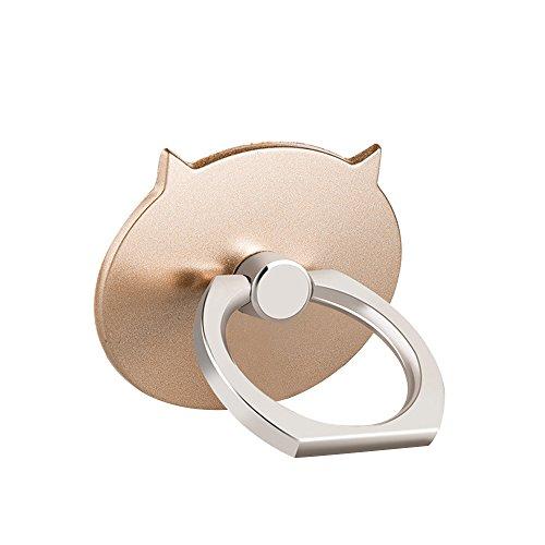 Hanbaili Handy Finger Ring Halter Süßes Schwein 360 Grad drehbarer Ständer Dünn und flach für iPhone X / Samsung S9 Plus / Smartphone Fit Magnetische Autohalterung (Gold) (Schwein 1 Ring)