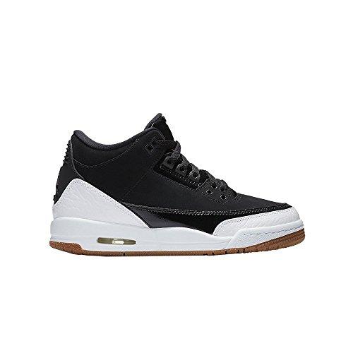 Nike Air Jordan Iii Retro GS - 441140022 - Farbe: Weiß-Schwarz - Größe: 38.5 -