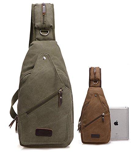 lemongirl Sling Brust Rucksack für Herren Damen, Unisex Schulter Crossbody Tasche für Reisen Wandern Camping Radfahren Mini Adult Handtasche Rucksack One Size grün (Herren Tumi Tasche)