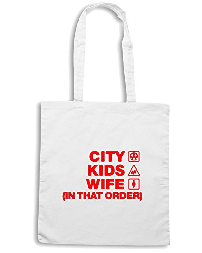 T-Shirtshock - Borsa Shopping WC1034 exeter-city-kids-wife-order-tshirt design Bianco