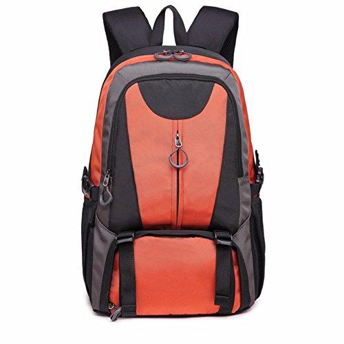 ZBAOZ Borse da viaggio Borse tracolla maschio femmina di grandi dimensioni capacità di scuola media pacchetto sportivo studenti, Arancione, 33 * 20 * 47CM