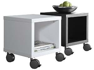 couchtisch w rfel rollen 40x40 wei lack hochglanz amazon. Black Bedroom Furniture Sets. Home Design Ideas