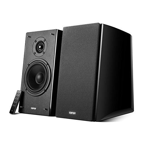 Edifier Studio R2000DB Bluetooth-Lautsprechersystem (120 Watt) mit Infrarot-Fernbedienung/optischem Eingang schwarz