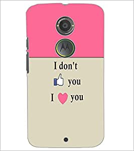 PrintDhaba Quote D-5967 Back Case Cover for MOTOROLA MOTO X2 (Multi-Coloured)