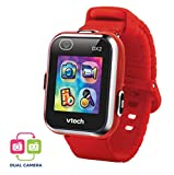 VTech Kidizoom Smart Watch DX2 - Reloj inteligente para niños con doble cámara, color rojo (3480-193827)