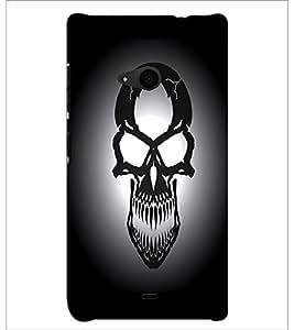 PrintDhaba Skull D-1245 Back Case Cover for MICROSOFT LUMIA 535 (Multi-Coloured)