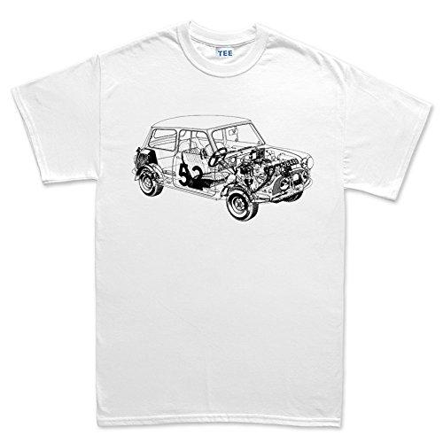 Austin Mini Classic 1275 Car T shirt (Weißes T-shirt Austin)