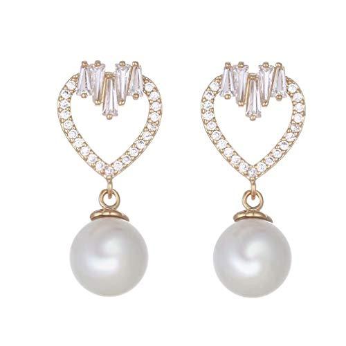 Chasiroma CZ Tropfenform Brauthaken, baumelnde Ohrringe Kristalle, Schmuck Geschenk für Frauen, gold