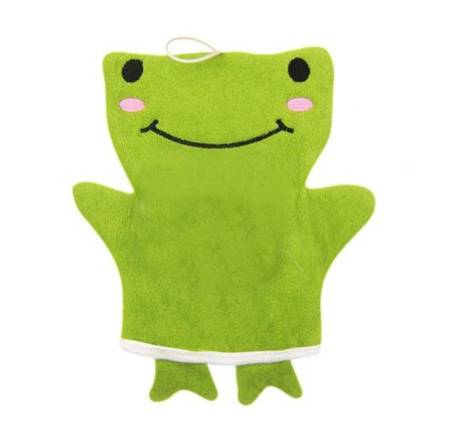 Bath Spa Mitaines / coton bain gant / bille de bain, grenouille vert
