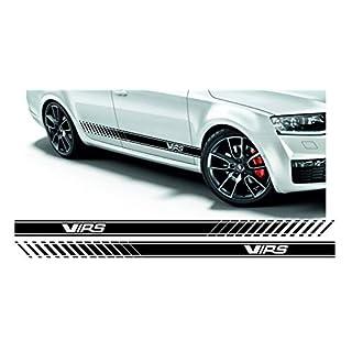 SUPERSTICKI Skoda Octavia VRS Rallyestreifen Stripes Set Seitenstreifen Rallyestreifen beidseitig Aufkleber Autoaufkleber Tuningaufkleber Hochleistungsfolie für alle glatten Flächen UV und Wa