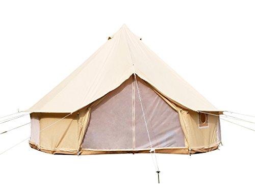 Safari Camping Outdoor Vier Saison Familie nurlaubsort Camping wasserdicht Bell Zelt oder Zelt zubehör (beige Baumwolle Leinwand Zelt, Diameter4m)