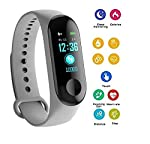 Shaarq M3 Smart Watch Watch Colour Screen Bluetooth Heart Rate Blood Pressure Detection Heart Rate Monitor Sport Watch...