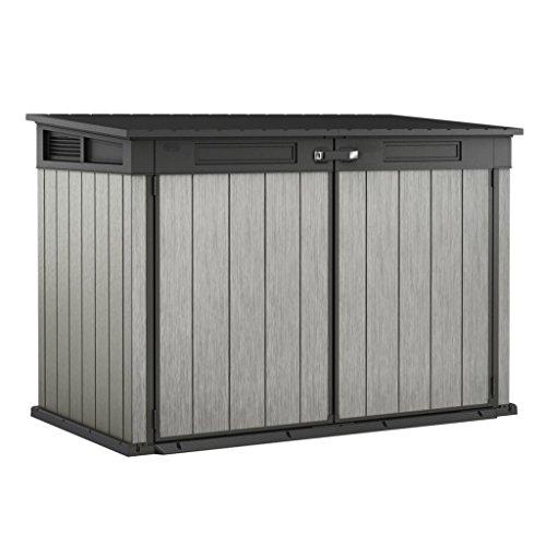 Koll Living Geräteschrank / Gerätehaus ( 2100 Liter ) für z.B Gartenutensilien, 2 Fahrräder, 3 Mülltonnen - Belüftet daher keine Schimmelbildung - DUOTECH Technologie