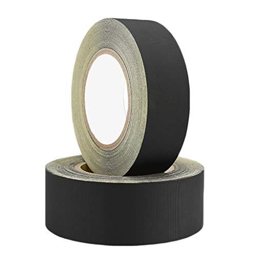 Schwarzes Kabel Band (Schwarzes Acetat-Band-Isolierungs-Hochtemperaturband-Reparatur-Kabel-örtlich festgelegtes Abnutzungs-Band (Size : W40mm ×L 30m ×2rolls))