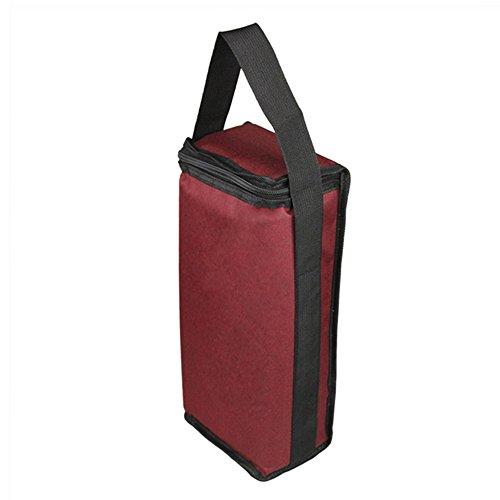 cheerfulus Isoliert Wein, der Tote, 2Isolierte Wein Tasche Flasche Champagner Kühler Transportbox mit Griff für Travel Restaurants Picknicks Weinrot -