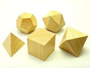 Solides platoniques en bois