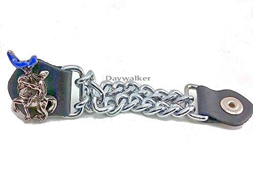 Daywalker Bikestuff Westenerweiterung Vest Extender Blue Knight Blauer Ritter 3 er Set Biker Weste Kutte Leder Jacke Vest Extender